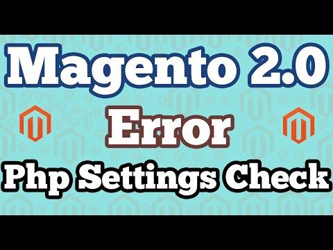 "Fix ""PHP Settings Check' error in Magento 2.0 installation on localhost | Windows 10"