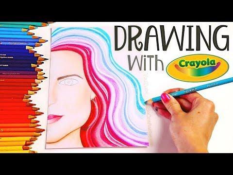 DRAWING with my CHILDHOOD COLORED PENCILS - Crayola Challenge