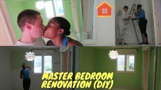 MASTER BEDROOM RENOVATION | DIY | WE DID IT | INTERRACIAL COUPLE
