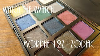 watch the swatch    morphe 12z zodiac smokey eye palette