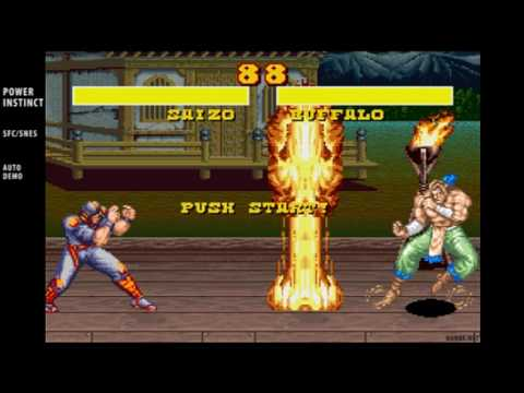 Power Instinct / auto demo / SNES Super Famicom 1994 - YouTube