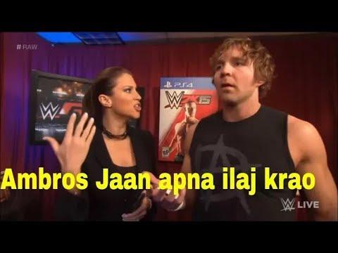 WWE hindi dubing dean ambrose ho gya pagal