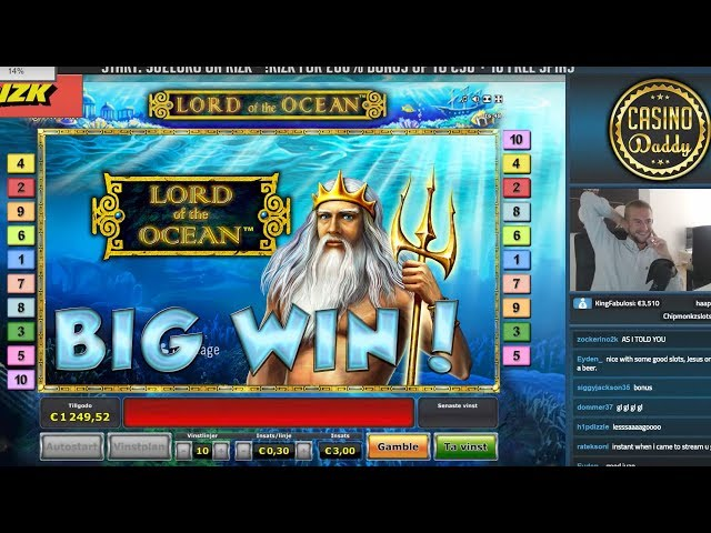 BIG WIN!!!! Lord of the ocean - Casino Games - bonus round (Casino Slots) From Live Stream