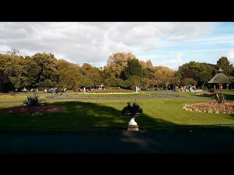 Strolling through St. Stephen's Green Park in Dublin, Ireland