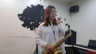 박춘임.색소폰연주(동백 아가씨)