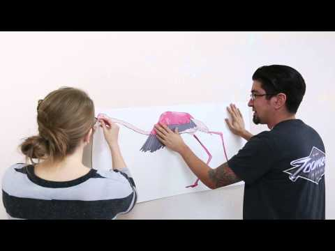 Printed Wall Decal Installation - Peel And Stick!