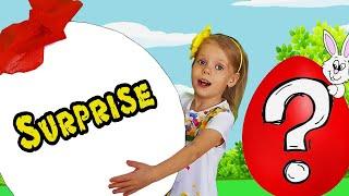 Vitalina Life pretend play Easter Surprise Eggs Hunt