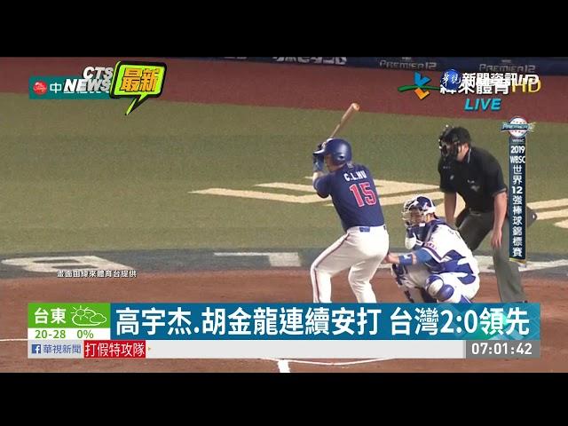 世界12強棒球賽 台灣7比0完封南韓| 華視新聞 20191113