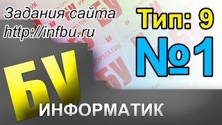 Задание 1, тип 9, видеоразбор задания ЕГЭ с сайта http://infbu.ru