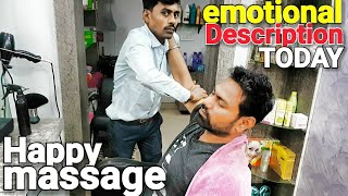 ASMR head massage and neck cracking by indian barber ASMR videos.