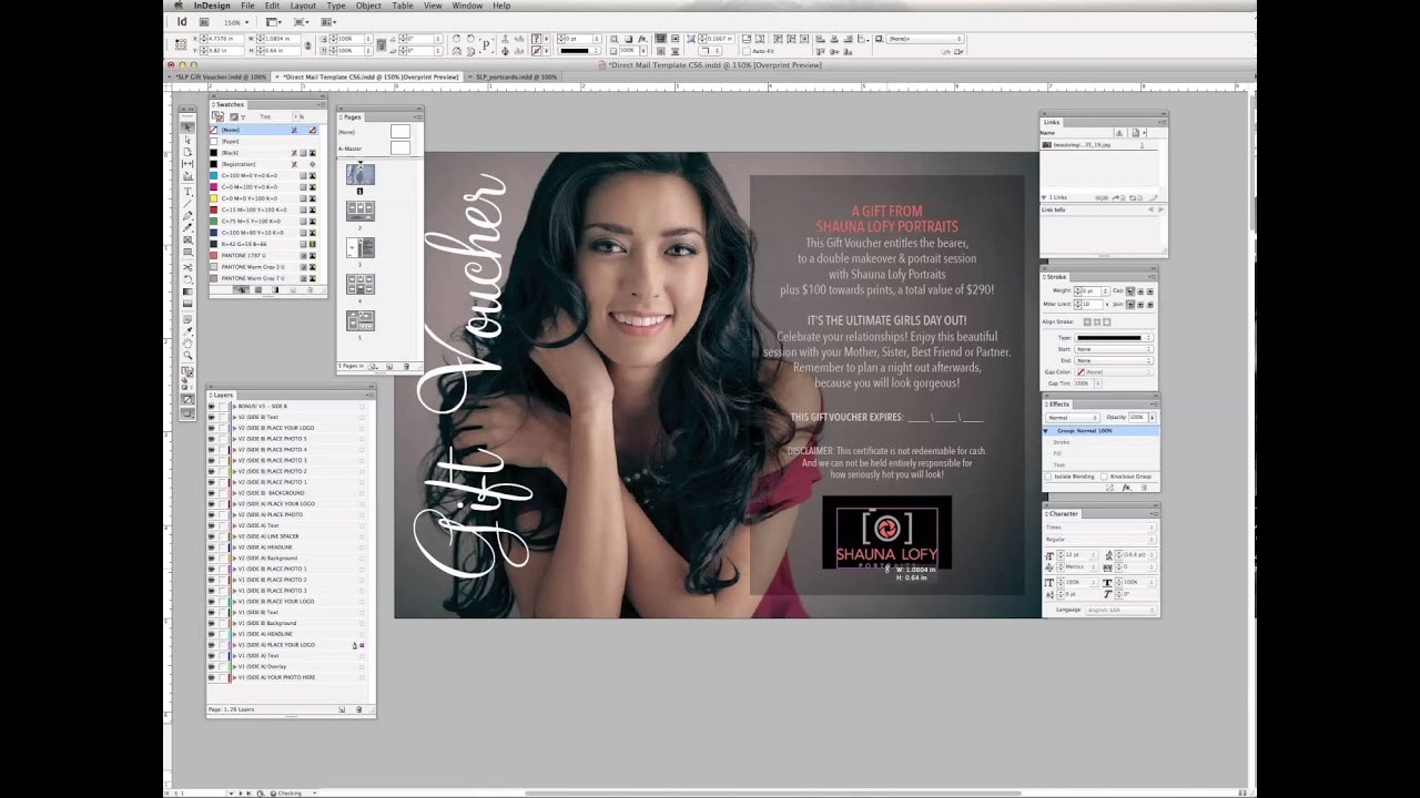 Customizing 5x7 Postcard Template for Adobe InDesign (Part 1 ...
