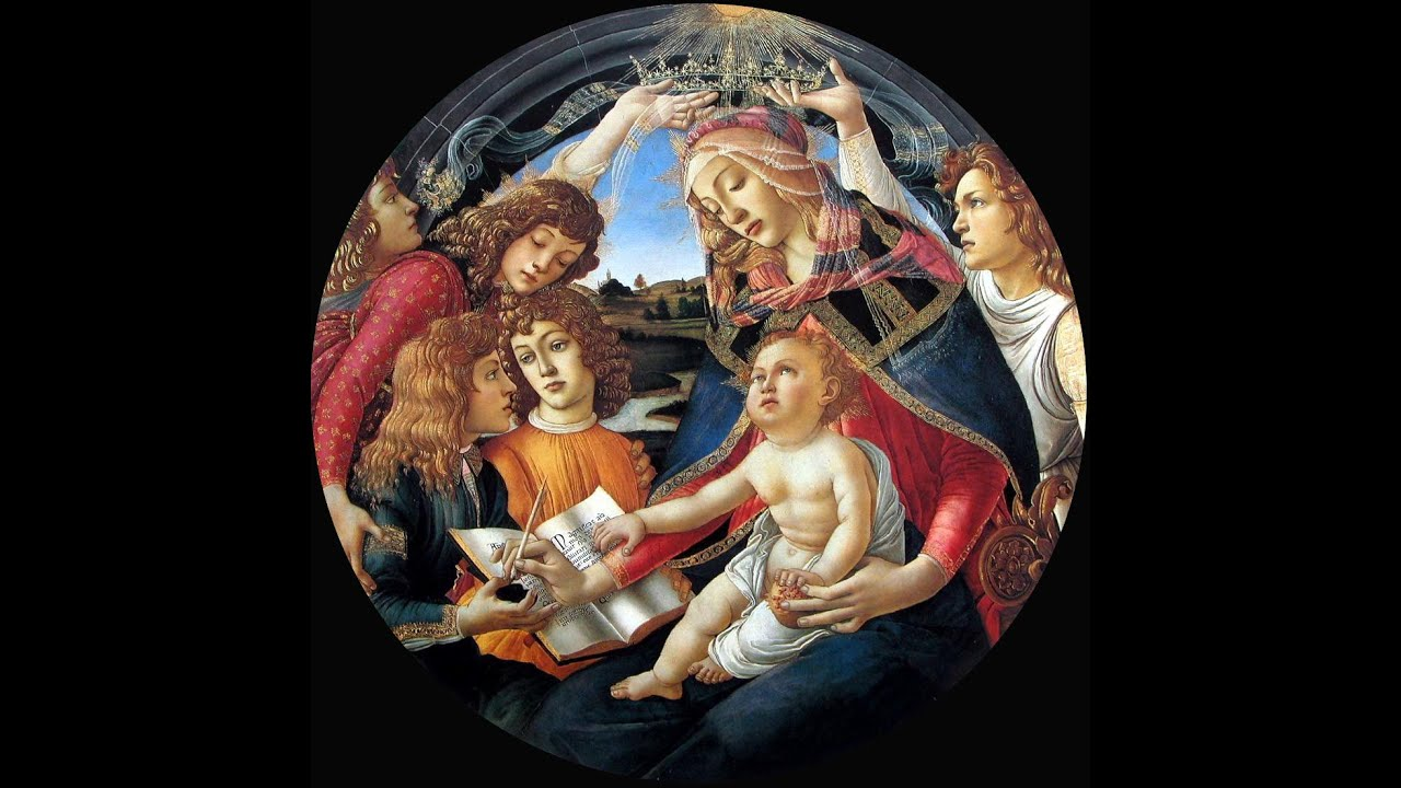 5 Sandro Botticelli Madonna of the Magnificat c1480-1481 ... Botticelli Paintings