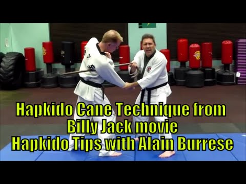 Hapkido Cane Technique from Billy Jack movie  Hapkido Tips with Alain Burrese