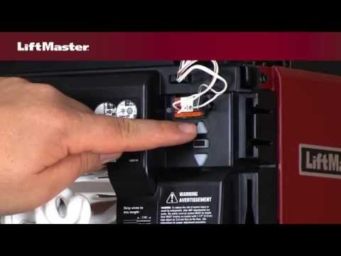 How to program travel on LiftMaster® Security+2.0™ garage door opener