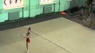 Художественная гимнастика видео Нина 6 лет обруч.