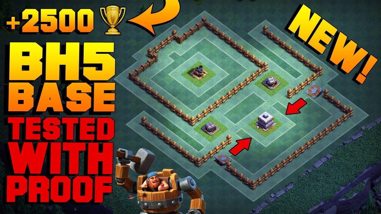 Most Epic Builder Hall 5 Base W Proof New Coc Bh5