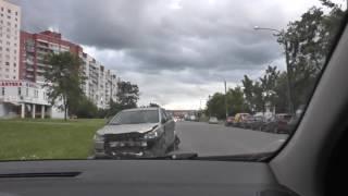Лена Виктор и Наташа на дороге без разметки.