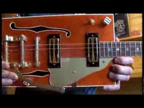 how to play 4 string cigar box guitar 2