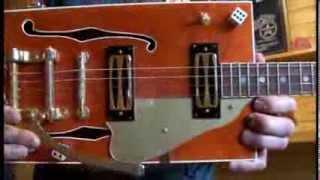 Gretsch Inspired 4 String Cigar Box Guitar Open G By Junksville Guitars