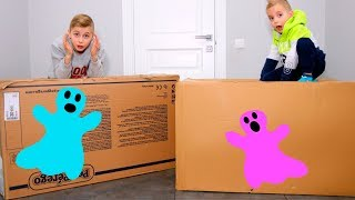 FUNNY BABY открывают ЗАГАДОЧНЫЕ посылки!!!От кого и что внутри???Mysterious huge parcels !!!