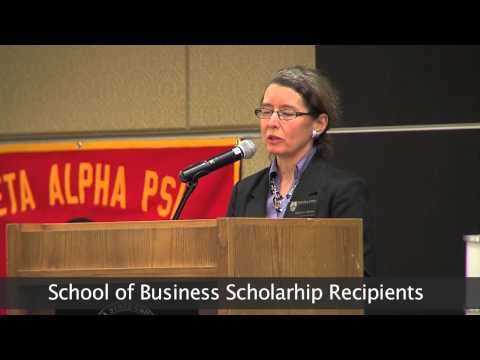 School of Business Recognition and Scholarship Reception