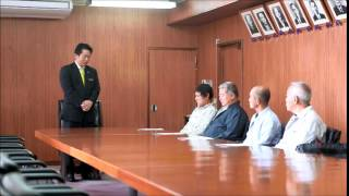 石垣市認定農業者への農業改善計画認定書交付式で