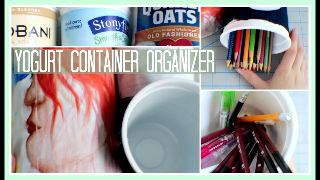 DIY Yogurt Container Organizer YouTube