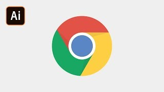 Как сделать логотип Google Chrome в Adobe Illustrator