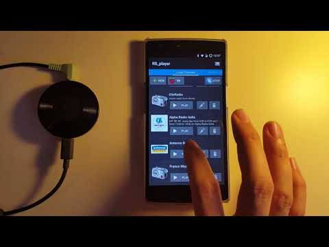 How to stream radios (.m3u, .pls) on Chromecast using the android APP RS_player