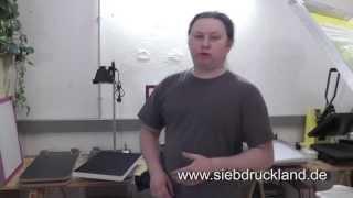 Siebdruck - Einfarbiger Siebdruck auf Textilien mit Gerät S300