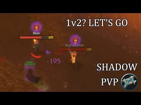 1vs2? Let's Go! | Shadow Priest World PvP WoW Classic