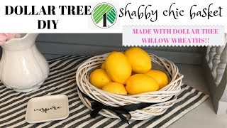 DOLLAR TREE DIY/SHABBY CHIC BASKET