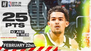 Trae Young 25 Pts 10 Ast Full Highlights   Mavericks vs Hawks   February 22, 2020