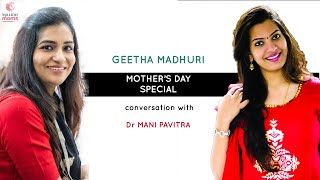 Gambar cover Geetha Madhuri Mother's Day Special Interview with Dr Mani Pavitra    Million Moms