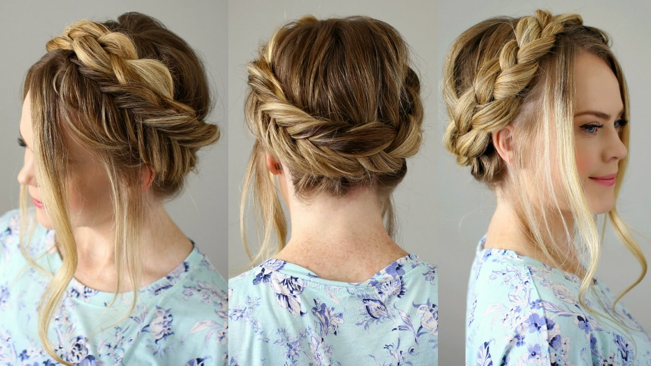 homecoming hairstyles faviana braid crown