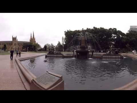 360 Video: J. F. Archibald Fountain, Sydney, Australia