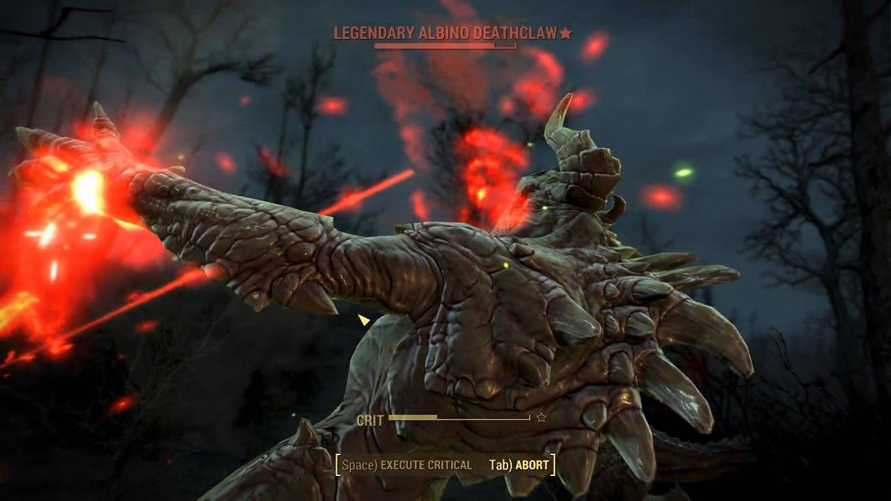 Legendary Deathclaw FALLOUT 4 - Killing Le...
