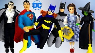 UNBOXING MEGO RETRO FIGURINES WITH SUPERMAN BATMAN WIZARD OF OZ & MORE