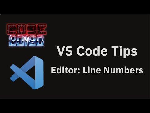Editor: Line Numbers