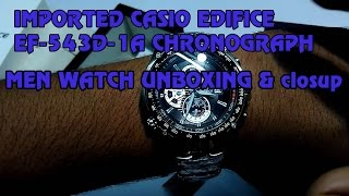 IMPORTED CASIO EDIFICE EF-543D-1A CHRONOGRAPH MEN WATCH UNBOXING