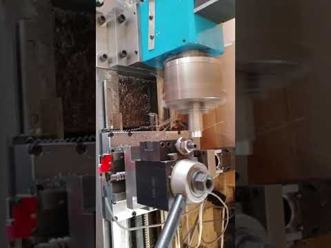 Diy cnc lathe first cut