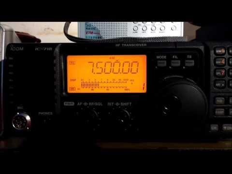 North Korean Reform Radio 7500KHz via Tashkent, UZBEKISTAN -  08JAN2017 20:55 utc