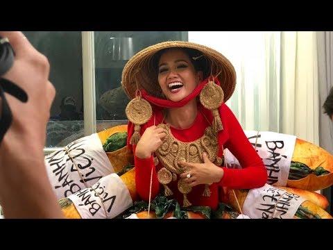 Hoa hậu H'hen Niê ghé thăm Top 6 cuộc thi chọn trang phục dân tộc tại Miss Universe 2018