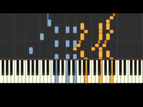 The Entertainer: piano tutorial (Synthesia) with free sheet music