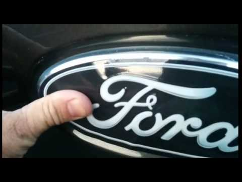 2010 F150 Custom >> Ford Emblem Overlay installation instructions - YouTube