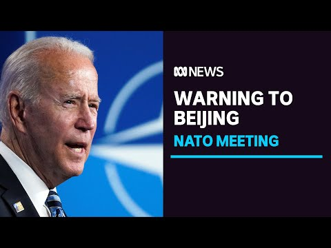 NATO bands together to name China as a threat at summit attended by Joe Biden | ABC News