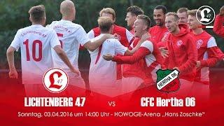 21. Spieltag - 03.04.2016 - Lichtenberg 47 gegen CFC Hertha 06 - Spielszenen