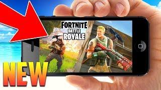 *NEW* FORTNITE ON MOBILE!! FORTNITE MOBILE GAMEPLAY! (Fortnite Battle Royale)
