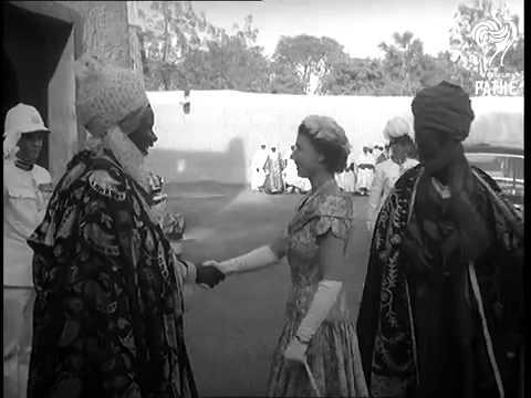 Queen Elizabeth's visit to Kano in 1956