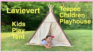 Lavievert Indian Canvas Teepee Children Playhouse Kids Play Tent - video review